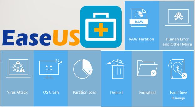 EaseUS Data Recovery Wizard 12.9 Crack + License Code {2019}